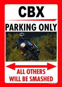 CBX Pro-Link PARKING ONLY sign